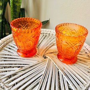 Orange Glass Jars